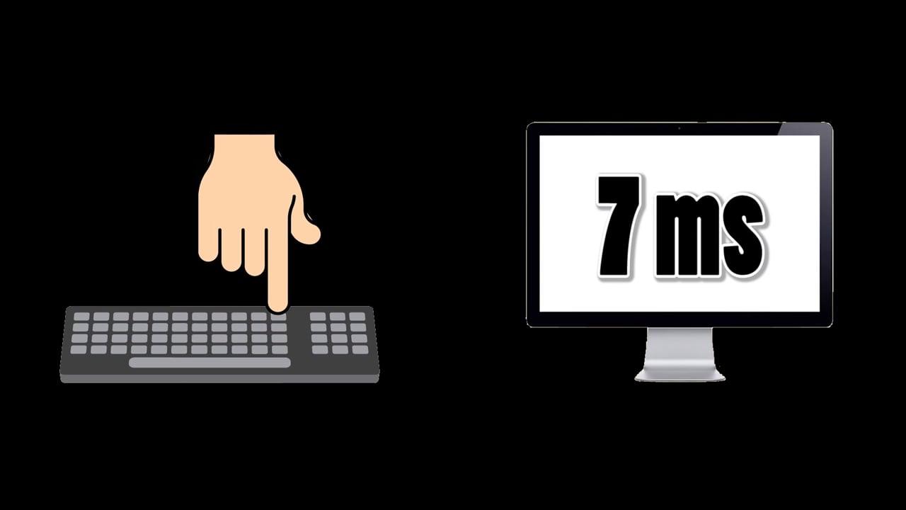 время отклика 7 мс