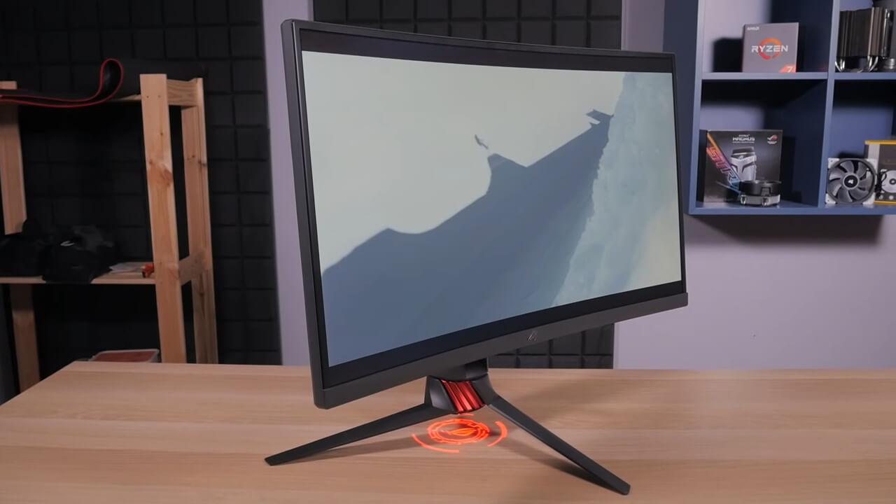 изогнутый монитор с rgb подсветкой