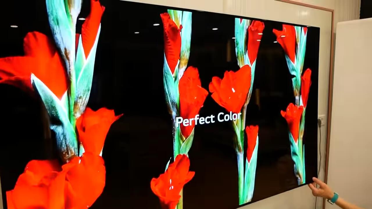 черный цвет в oled телевизорах